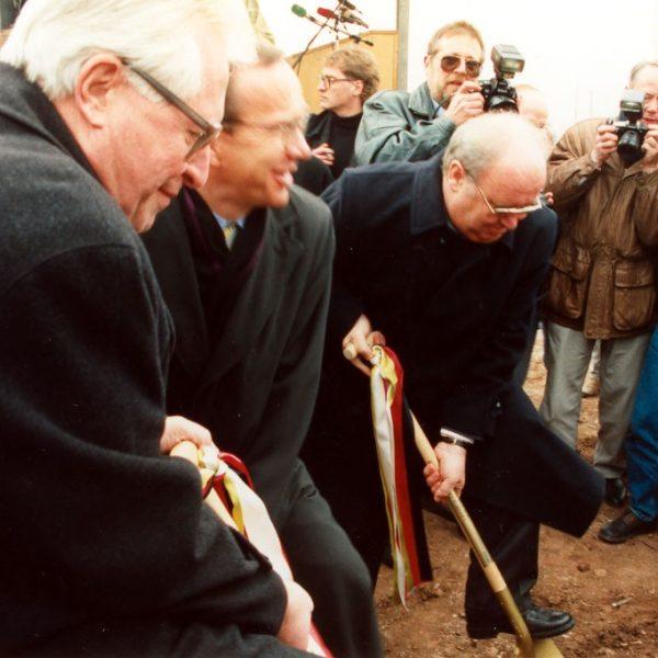 Spatenstich für die A 38 bei Sundhausen mit Verkehrsminister Matthias Wissmann und Ministerpräsident Bernhard Vogel