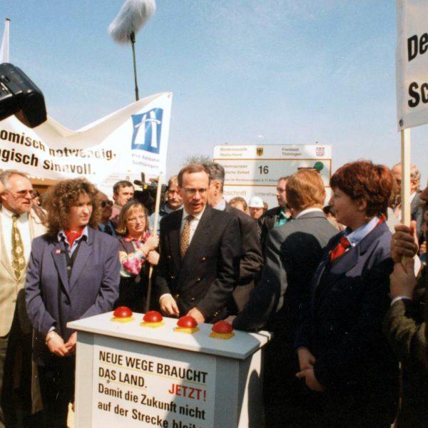 Spatenstich A 71 mit Verkehrsminister Matthias Wissmann