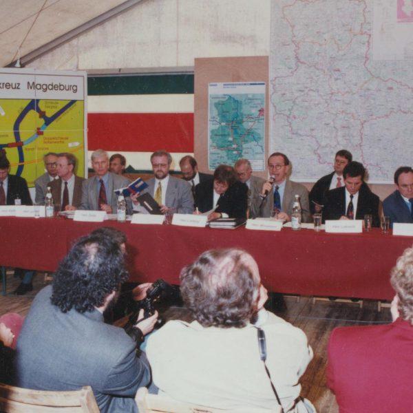 Pressekonferenz der DEGES mit Verkehrsminister Matthias Wissmann