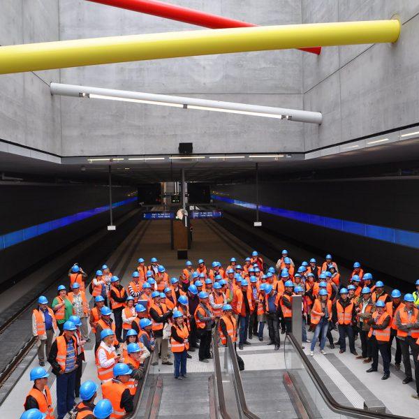 Betriebsausflug der DEGES zum City-Tunnel Leipzig