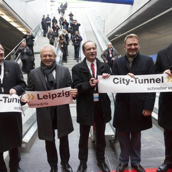 Eröffnung des City-Tunnels Leipzig und der dazugehörigen Bahnstationen