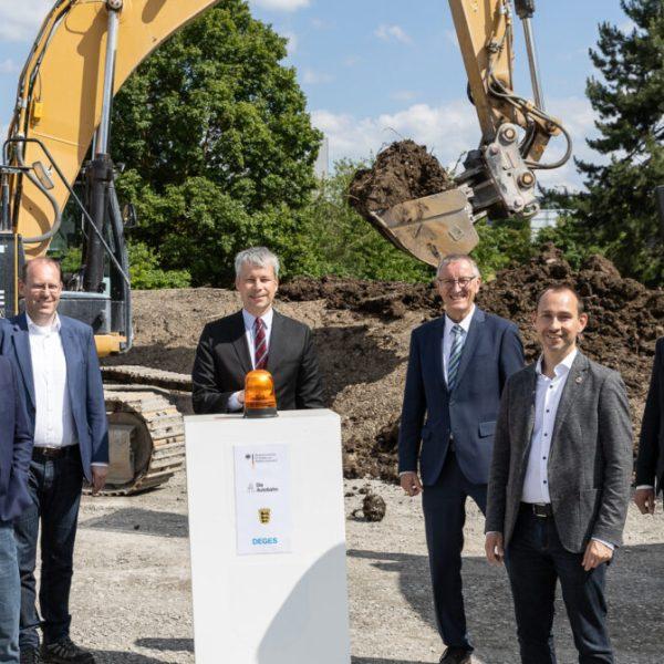 Baubeginn für die Erweiterung der A 81 zwischen den Anschlussstellen Sindelfingen-Ost und Böblingen-Hulb © Benjamin Knoblauch